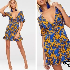 bea54b19de4f pretty little thing Dresses - Pretty little thing Mustard Floral Corset  Dress XS